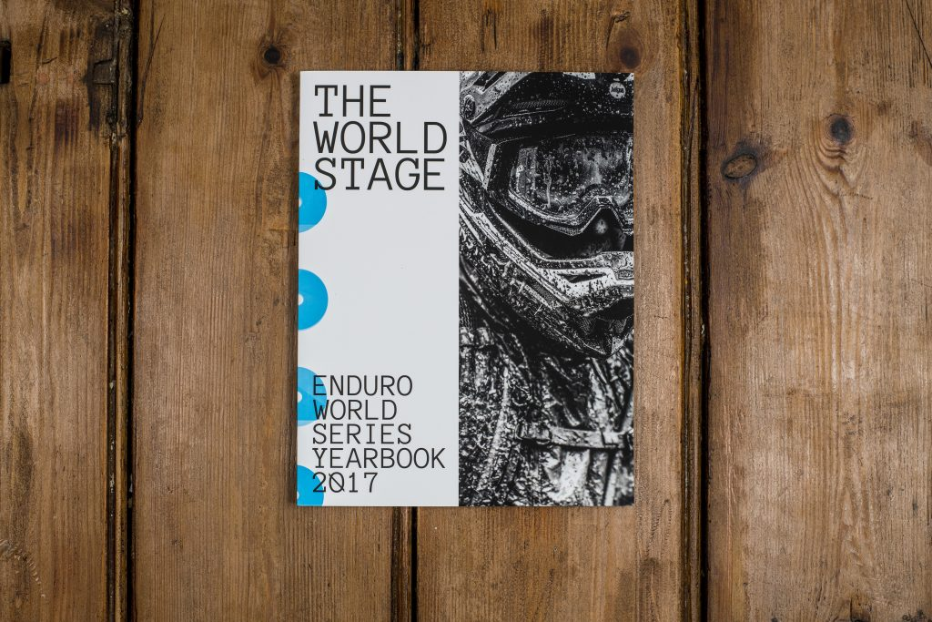 Sam Hill taking the cover of the first ever The World Stage book.