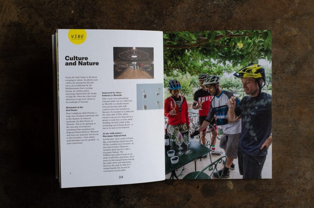 Punta Ala mountain bike guide book