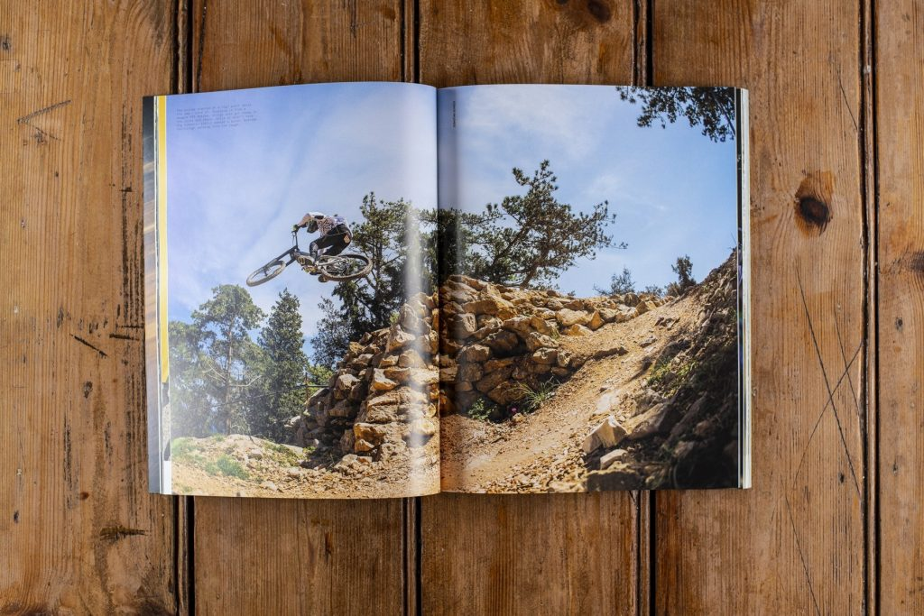 Downhill mountain bike book — Hurly Burly.